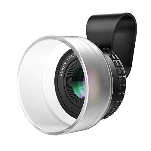 AUKEY 10×マクロレンズ プロフェッショナル スマホ カメラレンズ クリップ式 iPhone、Samsung、Sony、Androidスマートフォン、タプレットなどに対応 PL-M1