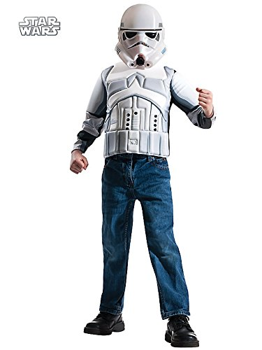 Storm Trooper Muscle Chest Shirt Set Costume for Kids