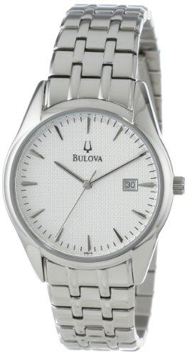 Bulova Men's 96B119 Bracelet Silver White Dial Watch