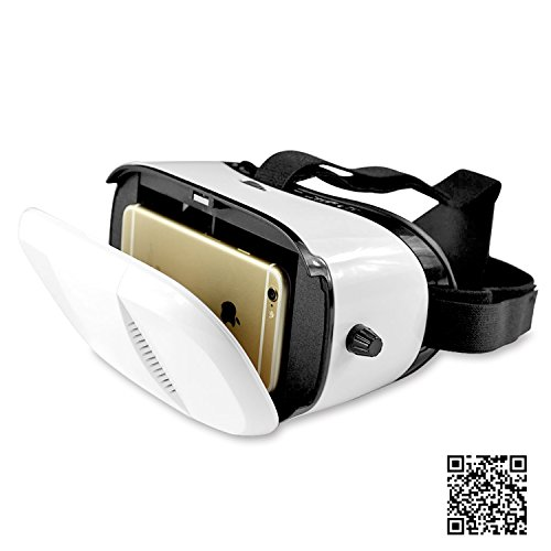 Pasonomi® Virtual Reality 3D VR Glasses for 4~6 Inch Smartphones for 3D Movies/Games, Adjustable Focal Distance...