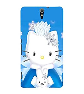 EPICCASE Lovely Kitty Mobile Back Case Cover For Sony Xperia C5 (Designer Case)