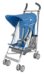 Maclaren Volo Lightweight Stroller, Deep Water with Deep Water Hood