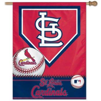 "MLB St. Louis Cardinals 02906015 Vertical Flag, 27"" x 37"", Black"