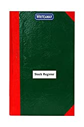 WRITEAWAY STOCK REGISTER RED HALF CONVAS PVC BINDING REGISTER SIZE (PAGES-105)NO-2(Pack of 1)