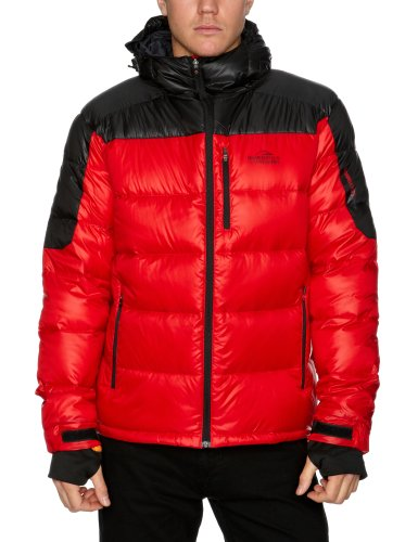 Bear Grylls Arctic Men's Down Jacket - Black Red/Black, Xxl