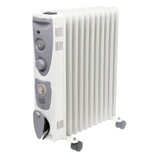 Prem-I-Air 2.5kW C3011T Oil Filled Radiator with Adjustable Thermostat 3 heat settings