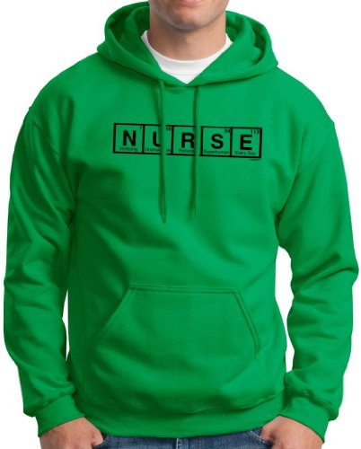 Nurse Spelled With Periodic Table Elements Hoodie Sweatshirt 2Xl Green