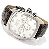 Invicta Men's 0067 Lupah Silver Textured Dial Olive Green Strap Watch