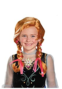 Disguise Disney's Frozen Anna Child Wig Girls Costume, One Size Child