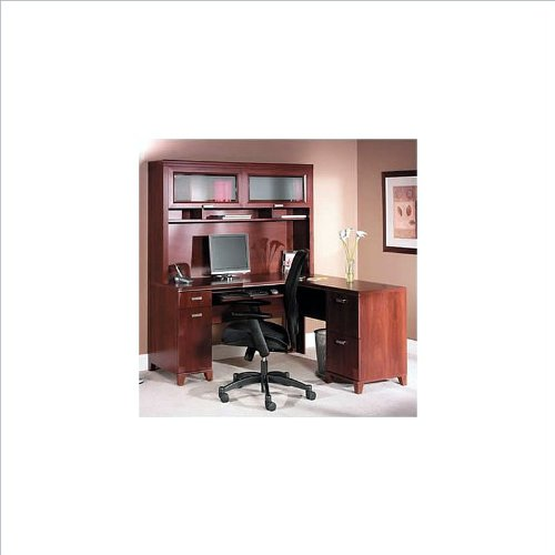 Tuxedo L Desk Home Office Set with Hutch