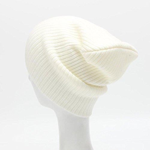 Hat, Yasalu Unisex Beanie Knit Ski Cap Hip-Hop Winter Warm Wool Hat (White) (Make Maleficent Horns)
