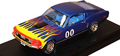 The Dukes of Hazzard 1:18 Cooter's Ford Mustang Blue Model Car