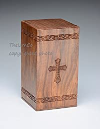 TheUrnCo Exclusive - Hand-Carved Cross Adult Size
