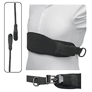 """Padded Wheelchair Chest Strap - Hook & Loop - Large, 64"""""""