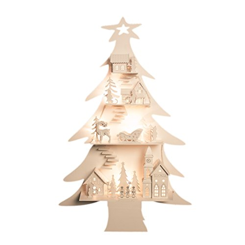 The christmas workshop alberello di natale in legno con - Sapin de noel en bois ikea ...