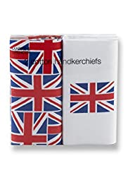 2 Pack Pure Cotton Union Jack Handkerchiefs