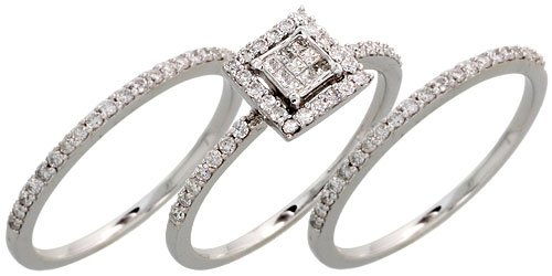 14k 3 piece wedding rings