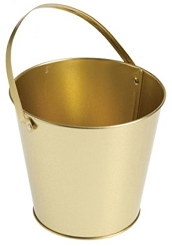 US Toy 204311 Metal Bucket - Gold