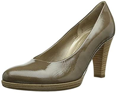 Gabor Shoes 95.220.94 Damen Plateau Pumps, Grau (taupe (Sohle natur)), 39.5 EU (6.5 UK)