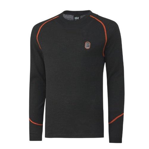 Helly Hansen Workwear, 75076, Multinorm Shirt Fakse Ls girocollo a maniche lunghe, XL, nero