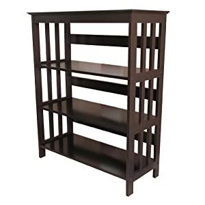 ORE International 3 Tier Bookshelves - Espresso