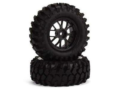 Hobbypower Black 12mm Hex Rc1:10 Off-road Vehicle Tires & Y Type Wheel Rims(pack of 4 Pcs)