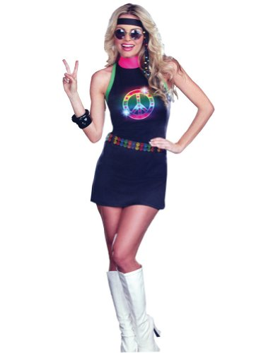 Adult-Costume Peace Out Led Light Up Adult Costume Lg Halloween Costume