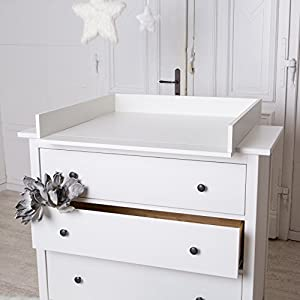 Table Langer Blanche Pour Commode Ikea Hemnes B B S Pu Riculture
