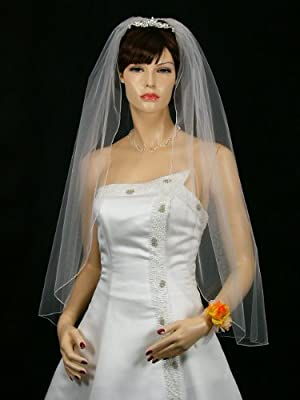 1T 1 Tier Pencil Edge Bridal Wedding Veil