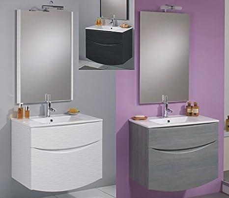 Mobile Arredo Bagno 74cm sospeso disp. in 4 colori con lavabo ceramica o cristallo Mobili
