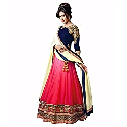 Vibhu Darshan Enterprise Womens Georgette Lehenga Choli(vibhu01_Blue_Free Size)