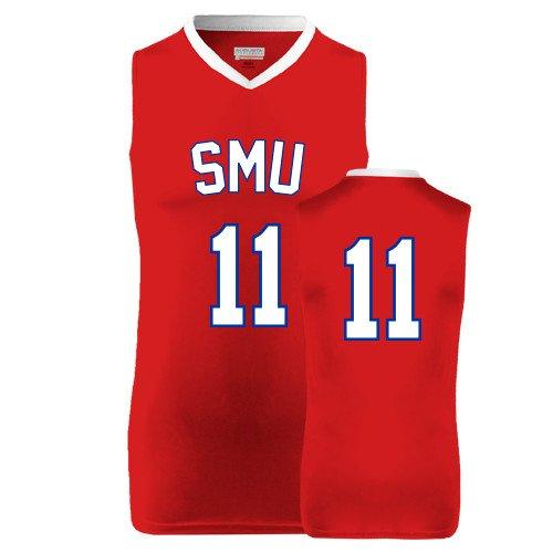 SMU Replica Red Adult Basketball Jersey '#11'