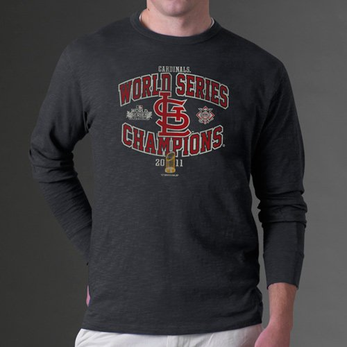 St. Louis Cardinals Grey 2011 World Series Champions Arch Long Sleeve Shirt at Amazon.com