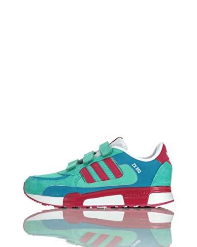 adidas Sneaker Zx 850 Cf K [Verde/Fucsia/Blu]