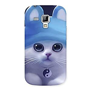 Stylish Tie Chi Cat Multicolor Back Case Cover for Galaxy S Duos