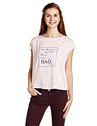 People Women's Body Blouse Top (P20402095830107_Pink_Medium)