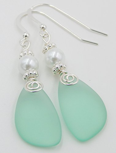 Sea Foam and Pearl Earrings