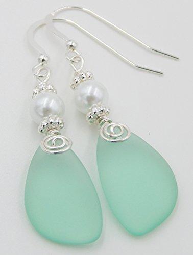 Sea Foam and Pearl Earrings