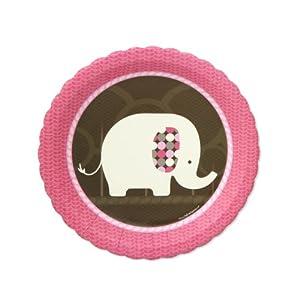 Pink Elephant Dessert Plates (8 count)