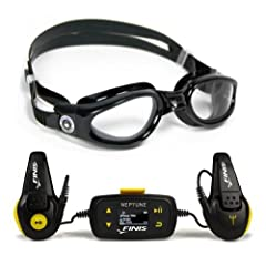FINIS Neptune Underwater MP3 Player with Kaiman Goggle by FINIS