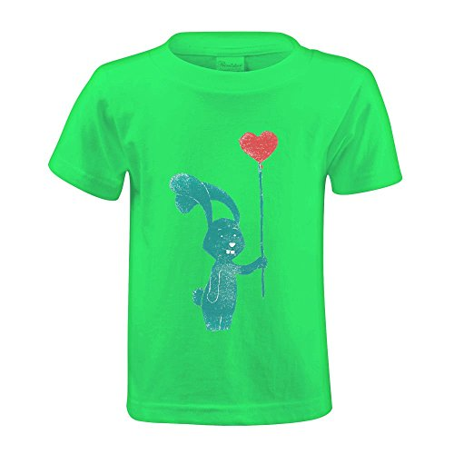 bunny-love-youth-crew-neck-print-tee-green