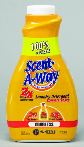 Hunter's Specialties Scent-A-Way Odorless Detergent, 24-Ounce