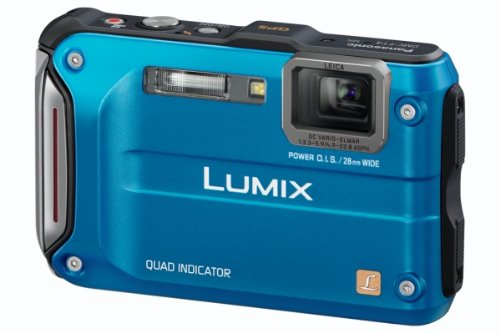 Panasonic DMC-FT4EB-A Rugged Compact Camera - Blue (12.1MP, 4.6x Optical Zoom) 2.7 inch LCD