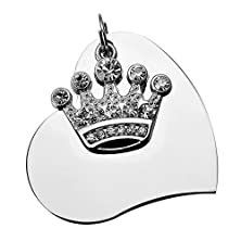 buy Hooami Stainless Steel Pet Id Tags For Dogs & Cats With Clear Crystal Imperial Crown Charm