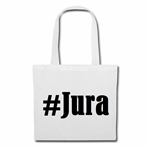 """Tasche""""#Jura""""Größe""""38x42""""Farbe""""Weiss""""Druck""""Schwarz"""