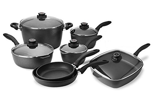 Swiss Diamond 10-piece Nonstick Cookware Set with Bonus Saute Pan