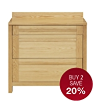 Sonoma Light 100cm Kitchen 3-Drawer Base Unit