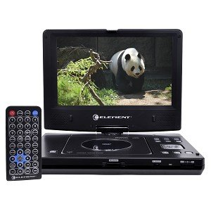 "10.2"" Element E1023PD Rechargeable Swivel Widescreen Portable DVD Player w/Stereo Earbuds & DC Car"