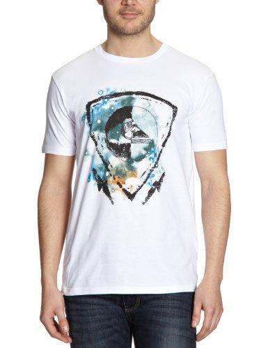 Quiksilver Basic Tee Plain Men's T-Shirt White Small 1