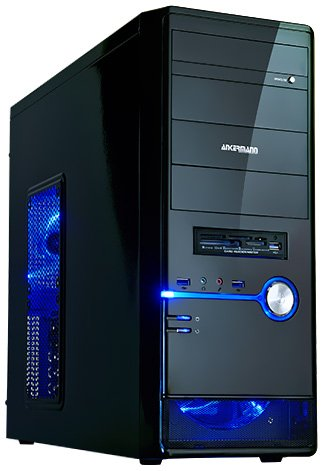 Ankermann-PC.GAMER Desktop., AMD FX-4300 4x 3.80GHz, ASUS GTX 750TI-OC-2GB GeForce, 2TB Toshiba HDD, 8 GB RAM, 24x DVD-RW Writer-, Be Quiet! System Power 7 BRONZE 400W, Card Reader, Art.Nr.: 28368, EAN: 4260219650175